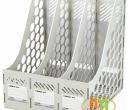 File vát 3 ngăn nhựa Comix mầu ghi sáng (B2113)