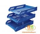 Khay hồ sơ 3 tầng nhựa Comix màu xanh Blue (B2060)