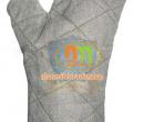 Găng vải bò chống nóng, 2 ngón, lót nỉ dày