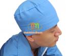 Mũ trùm đầu y tế màu xanh