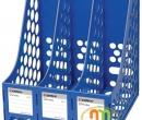 File vát 3 ngăn nhựa Comix mầu xanh Blue (B2113)